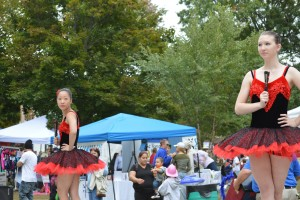Maeve Enright (YOG 2016) and Annalise Patten (YOG 2016) dance at Groton Fest